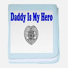 Police Hero-Daddy baby blanket