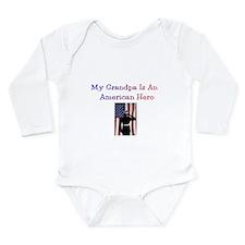 American Hero Grandpa Long Sleeve Infant Bodysuit