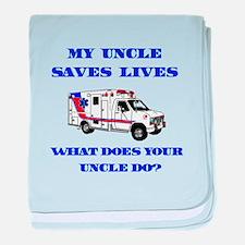 Ambulance Saves Lives-Uncle baby blanket