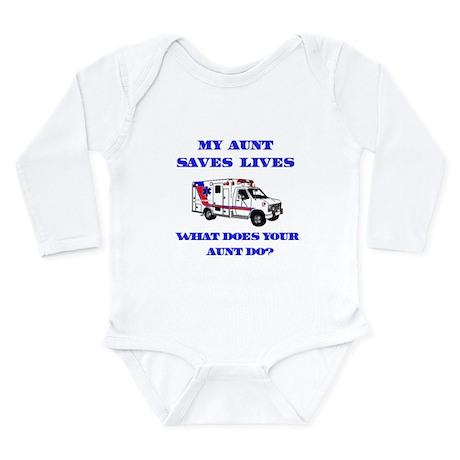 Ambulance Saves Lives-Aunt Long Sleeve Infant Body