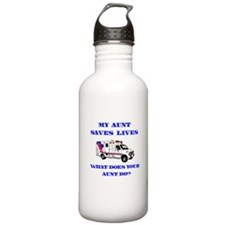 Ambulance Saves Lives-Aunt Water Bottle