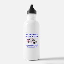Ambulance Saves Lives-Grandpa Water Bottle