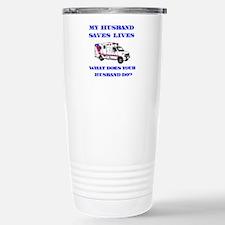 Ambulance Saves Lives-Husband Travel Mug
