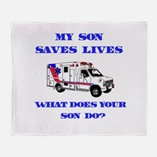 Ambulance Saves Lives-Son Throw Blanket