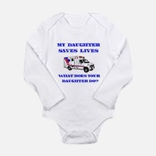 Ambulance Saves Lives-Daughte Long Sleeve Infant B