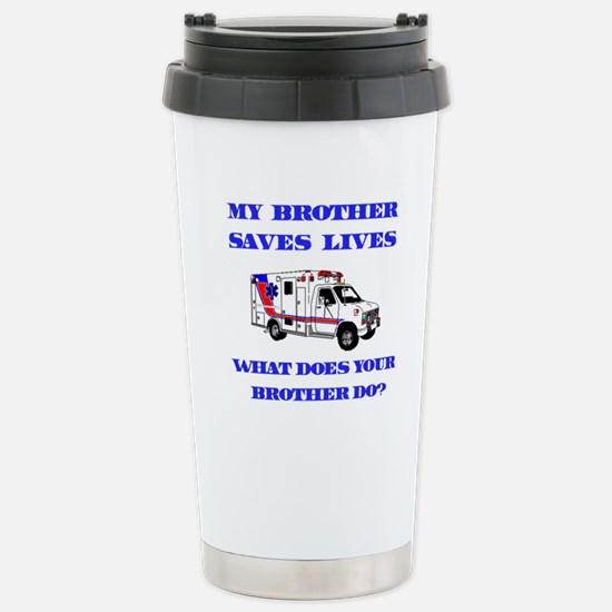 Ambulance Saves Lives-Brother Stainless Steel Trav