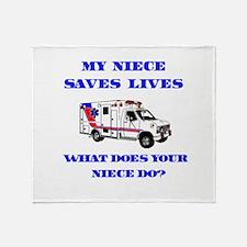 Ambulance Saves Lives-Niece Throw Blanket