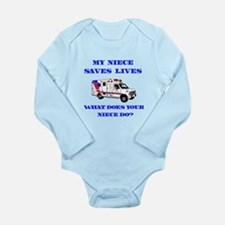 Ambulance Saves Lives-Niece Long Sleeve Infant Bod