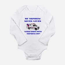 Ambulance Saves Lives-Nephew Long Sleeve Infant Bo
