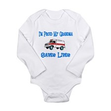 Ambulance Pride-Grandma Long Sleeve Infant Bodysui
