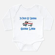 Ambulance Pride-Grandma Long Sleeve Infant Bodysui