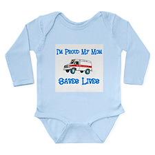 Ambulance Pride-Mom Long Sleeve Infant Bodysuit