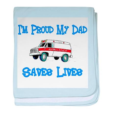 Ambulance Pride-Dad baby blanket