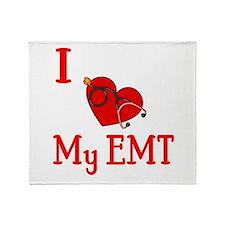 I Love My-EMT Throw Blanket