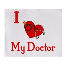 I Love My-Doctor Throw Blanket