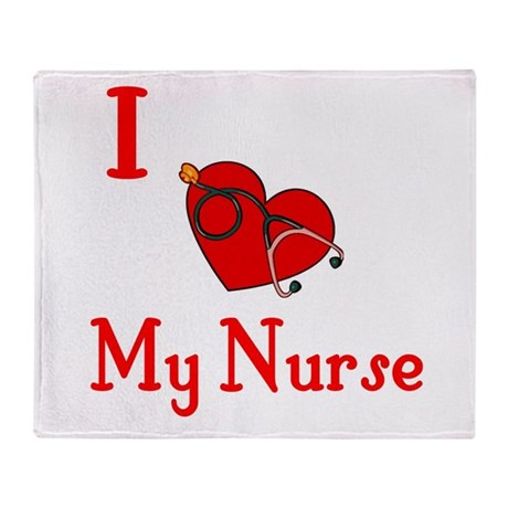 I Love My- Nurse Throw Blanket