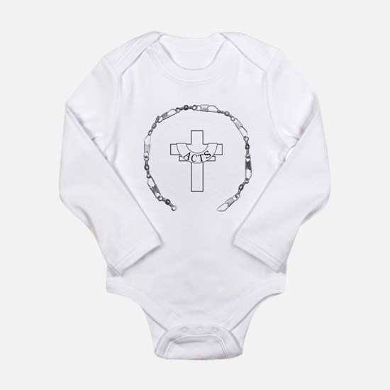 Fishers of Men- Silver Long Sleeve Infant Bodysuit