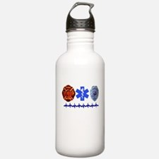Superhero- Back Design Water Bottle