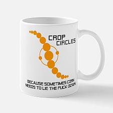 Corn Lies Down for Crop Circles (Mug)