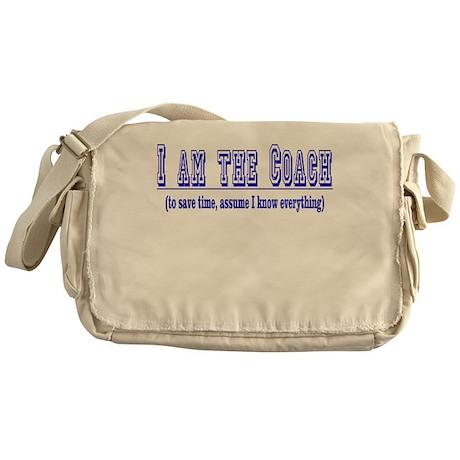 I am the COACH- Blue Messenger Bag