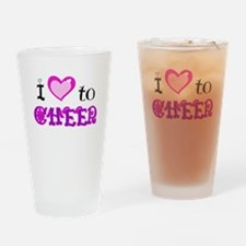 I Love to Cheer Drinking Glass