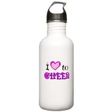 I Love to Cheer Water Bottle