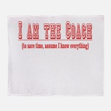 I'm the Coach- Red Throw Blanket