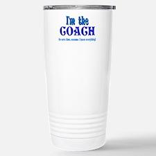 I'm the Coach -Blue Travel Mug