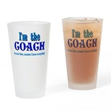 I'm the Coach -Blue Drinking Glass