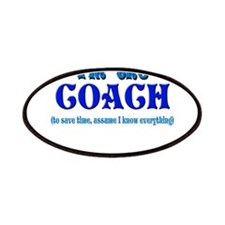 I'm the Coach -Blue Patches