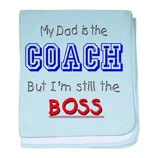My Dad Is The COACH baby blanket