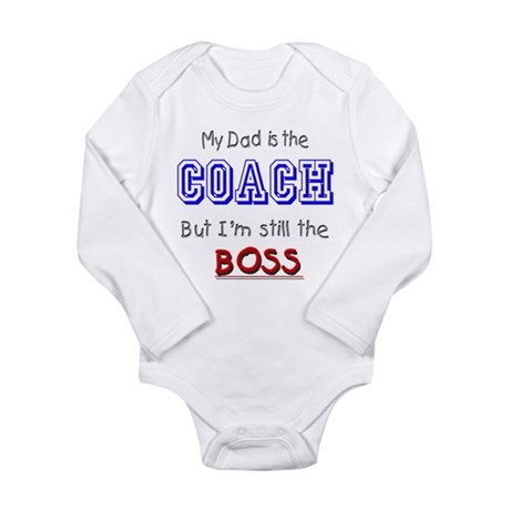 My Dad Is The COACH Long Sleeve Infant Bodysuit
