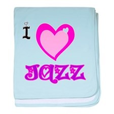 I Love Jazz baby blanket