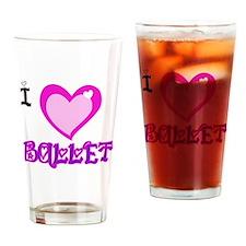 I Love Ballet Drinking Glass