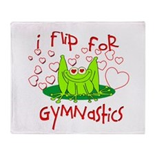 I Flip for Gymnastics Throw Blanket