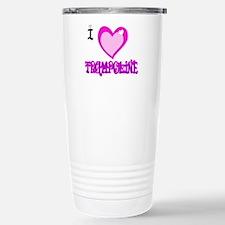 I Love Trampoline Stainless Steel Travel Mug
