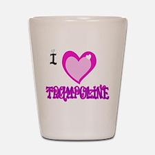 I Love Trampoline Shot Glass
