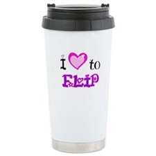 I Love to Flip Travel Coffee Mug