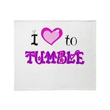 I Love to Tumble Throw Blanket