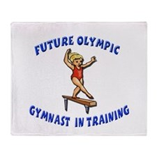 Future Olympic Gymnast In Tra Throw Blanket