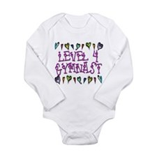 Level 4 Hearts Long Sleeve Infant Bodysuit