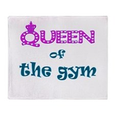 Queen of the gym Throw Blanket