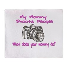 My Mommy Shoots- Pink Throw Blanket