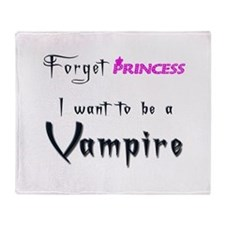 I want to be a Vampire... Throw Blanket
