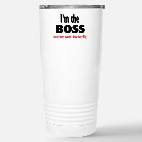I'm the Boss Stainless Steel Travel Mug