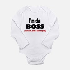 I'm the Boss Long Sleeve Infant Bodysuit