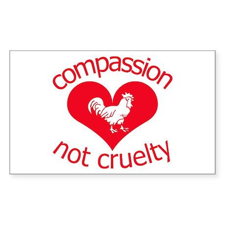 Compassion not cruelty Sticker (Rectangle)