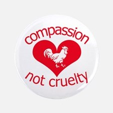 "Compassion not cruelty 3.5"" Button"