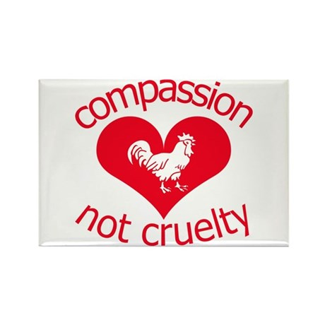 Compassion not cruelty Rectangle Magnet (100 pack)