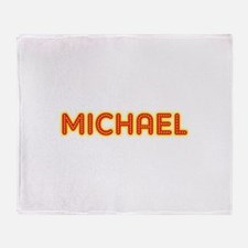 Michael in Movie Lights Throw Blanket